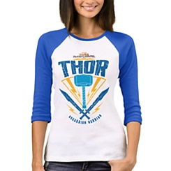 Thor: Ragnarok Asgardian Warrior Weapon Raglan T-Shirt for Women - Customizable