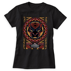 Black Panther Pattern T-Shirt for Women - Customizable
