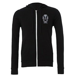 Black Panther Emblem Zip Hoodie for Men - Customizable