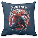 Spider-Man Web Swing Street Art Graphic Throw Pillow - Customizable