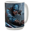 Captain America Shield Coffee Mug - Marvel Future Flight - Customizable
