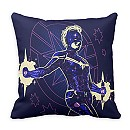 Marvel's Captain Marvel Constellation Character Art Throw Pillow - Customizable