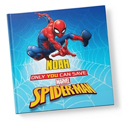 Only You Can Save Spider-Man Book - Hardback - Personalizable